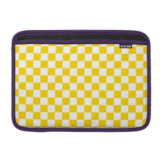 Yellow Checkerboard MacBook Air Sleeves