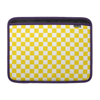 Yellow Checkerboard MacBook Sleeve