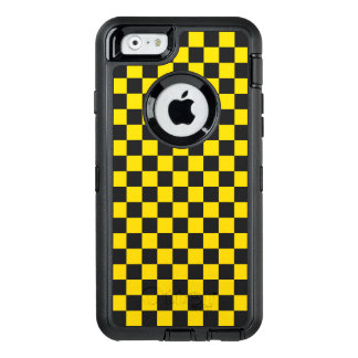 Yellow Checkerboard OtterBox Defender iPhone Case