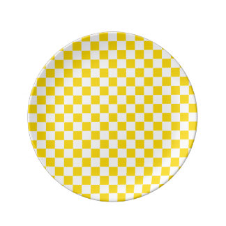 Yellow Checkerboard Plate