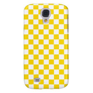 Yellow Checkerboard Samsung Galaxy S4 Cover