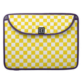 Yellow Checkerboard Sleeve For MacBooks