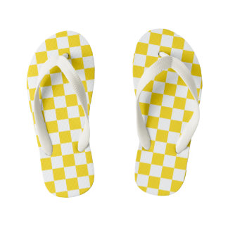 Yellow Checkerboard Thongs