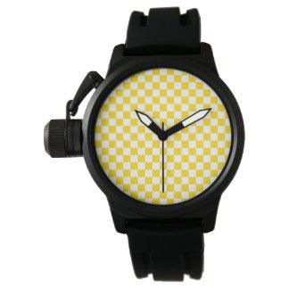 Yellow Checkerboard Watch