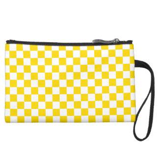 Yellow Checkerboard Wristlets