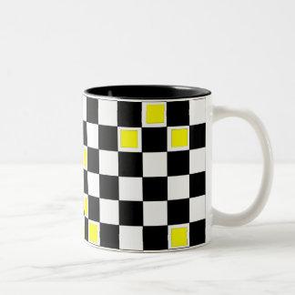 Yellow Checkers Mugs