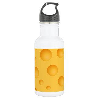 Yellow Cheese Pattern 532 Ml Water Bottle