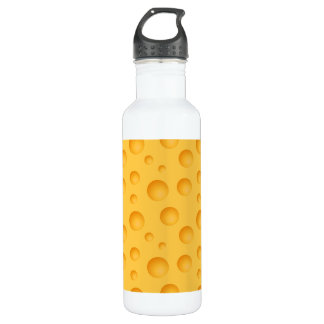 Yellow Cheese Pattern 710 Ml Water Bottle