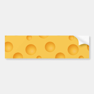 Yellow Cheese Pattern Bumper Sticker