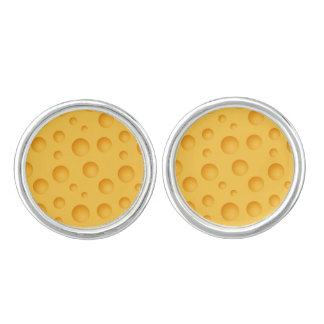 Yellow Cheese Pattern Cufflinks