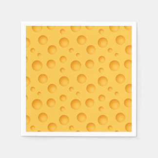 Yellow Cheese Pattern Disposable Napkins