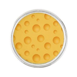 Yellow Cheese Pattern Lapel Pin