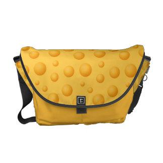 Yellow Cheese Pattern Messenger Bag