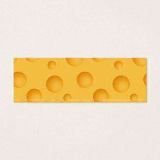 Yellow Cheese Pattern Mini Business Card
