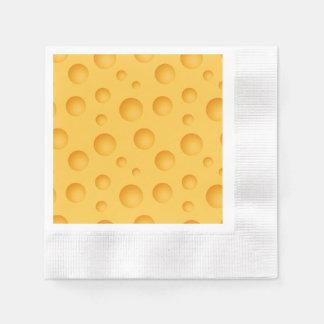 Yellow Cheese Pattern Paper Napkin