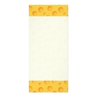 Yellow Cheese Pattern Rack Card