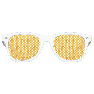 Yellow Cheese Pattern Retro Sunglasses