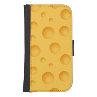 Yellow Cheese Pattern Samsung S4 Wallet Case