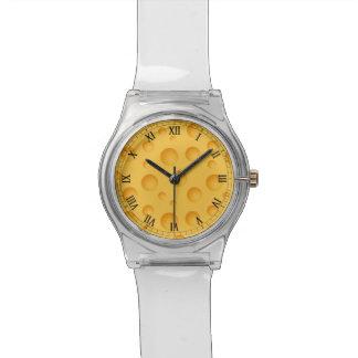 Yellow Cheese Pattern Wristwatch