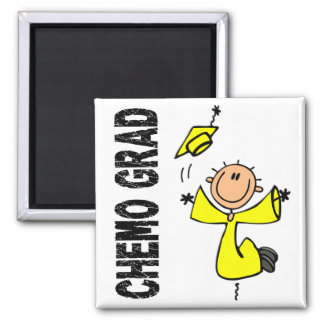 Yellow CHEMO GRAD 1 (Sarcoma) Square Magnet