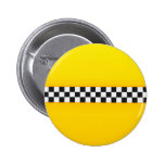 Yellow Chequerboard Pattern 6 Cm Round Badge