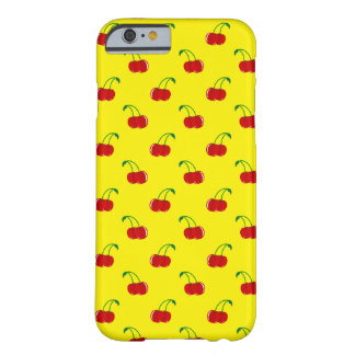 Yellow cherry pattern barely there iPhone 6 case
