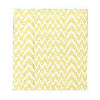 Yellow Chevron Illusion Notepad