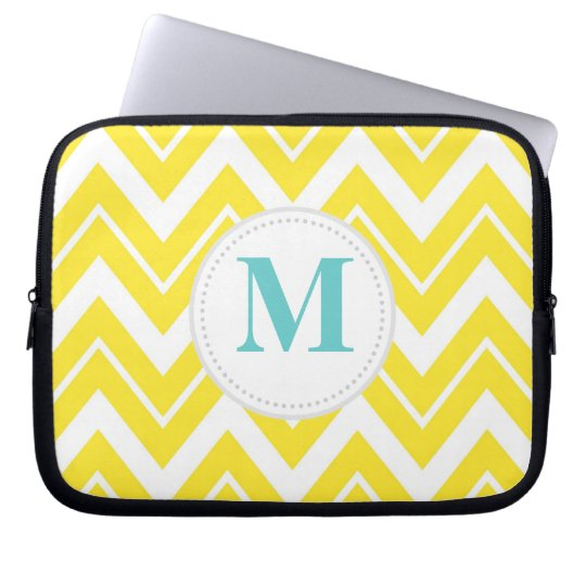 Yellow Chevron Laptop Sleeve