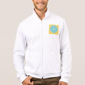 Yellow Chevron Pattern   Teal Monogram Jacket
