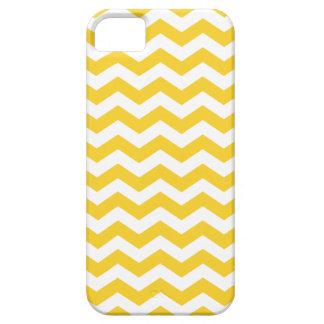 Yellow Chevron Stripes iPhone 5 Case