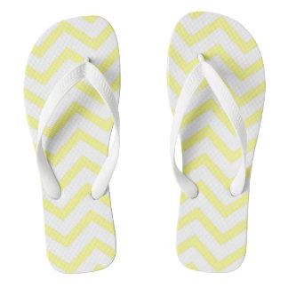 Yellow Chevron Thongs
