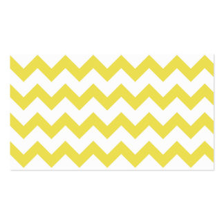Yellow Chevron Zig Zag Pattern Elegant Modern Business Card Template