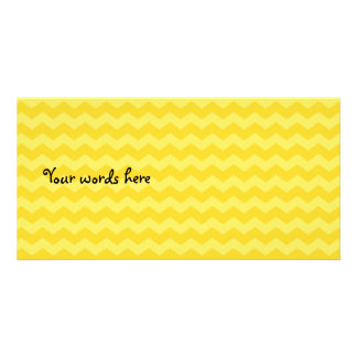 Yellow chevrons custom photo card