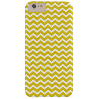 Yellow Chevrons Pattern Barely There iPhone 6 Plus Case