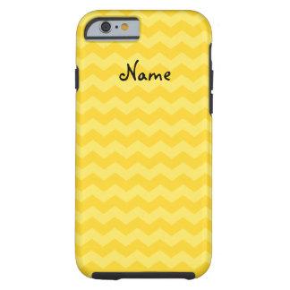 Yellow chevrons tough iPhone 6 case
