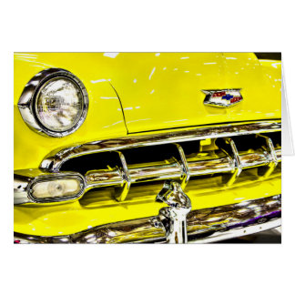 Yellow Chevy Classic Car Card