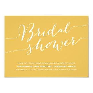 Yellow Chic Bridal Shower Invitations