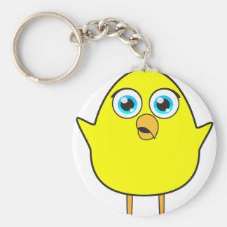 Yellow chick key ring