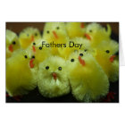 Yellow Chicks Fathers Day Card