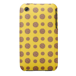 Yellow chocolate chip cookies pattern iPhone 3 case