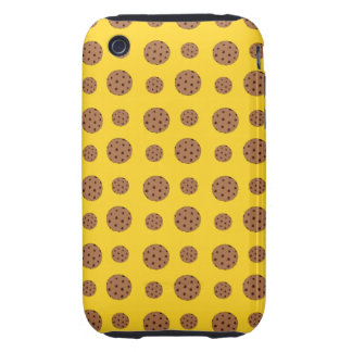 Yellow chocolate chip cookies pattern tough iPhone 3 cover