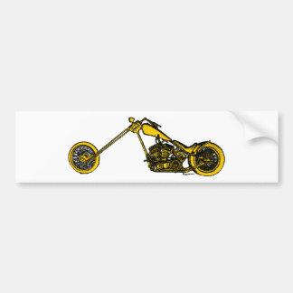Yellow Chopper Style Bumper Sticker