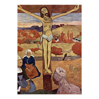 Yellow Christ by Gauguin Vintage Impressionism Announcements