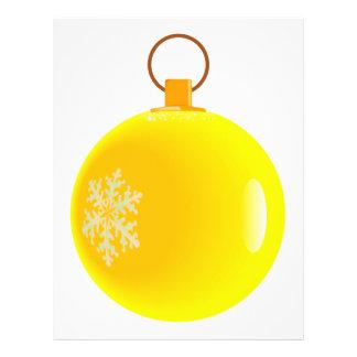 Yellow Christmas Bauble Flyer