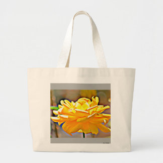 Yellow Chromatic Rose Custom Jumbo Tote