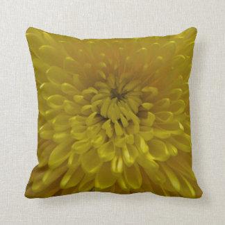 Yellow chrysanthemum cushion