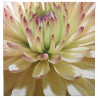 Yellow Chrysanthemum Flower Mums Flowers Photo Napkin