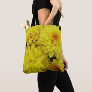 Yellow Chrysanthemums Floral Tote Bag