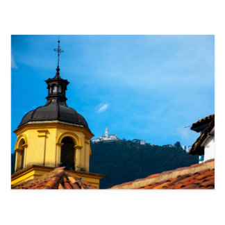 Yellow church and Monserrate Postcard
