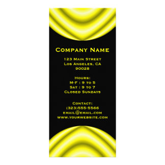 yellow circle full color rack card